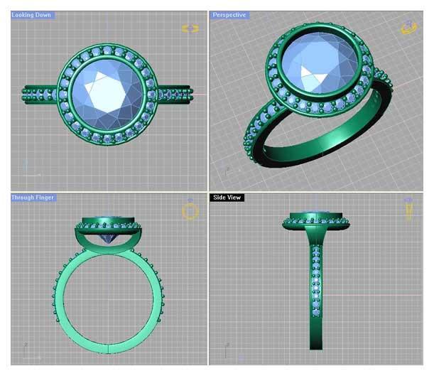 Dessin 3D SOLITAIRE